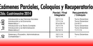 FECHAS DE PARCIALES, TOTALIZADORES Y COLOQUIOS