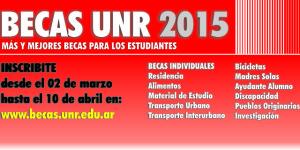 Beneficiarios Becas UNR 2015