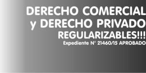 DERECHO COMERCIAL y DERECHO PRIVADO REGULARIZABLES!!!